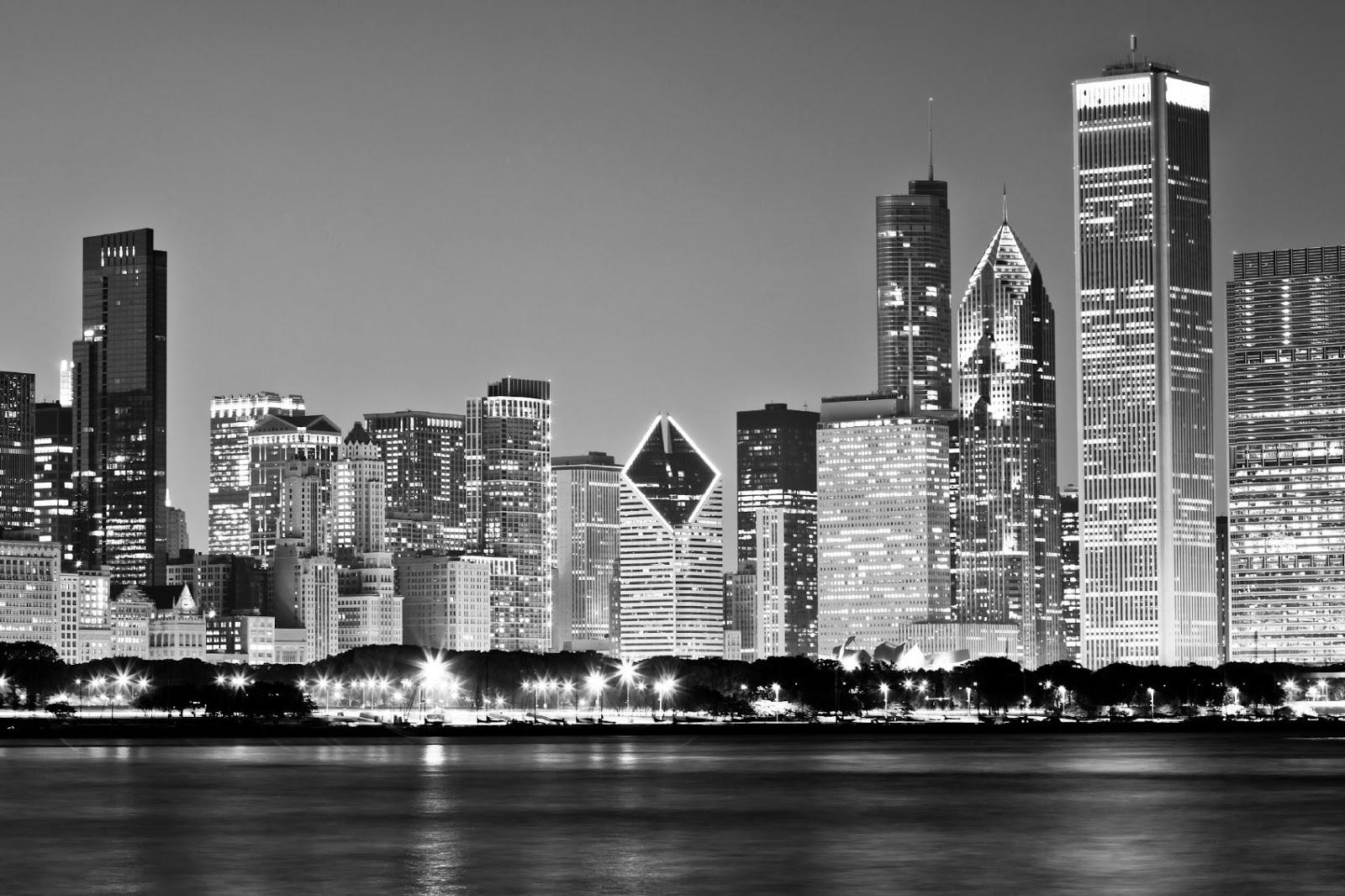 Chicago Skyline With Trump